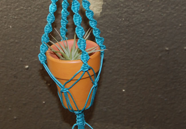 Turquoise Plant Hanger